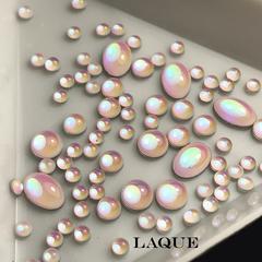 MIX камней ОВАЛ - PINK OPAL (не теряют цвет)