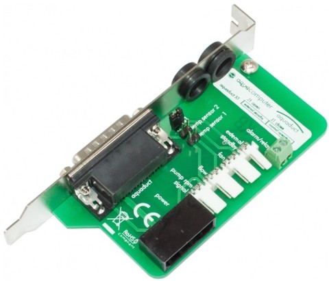 Aqua-Computer aquaduct PC connector board with bezel, 15 pin connector