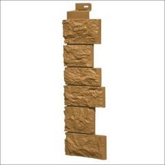 Наружный угол для фасадных панелей FineBer Камень дикий Песочный
