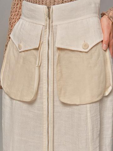 Женская юбка молочного цвета Olmar GentryPortofino - фото 3