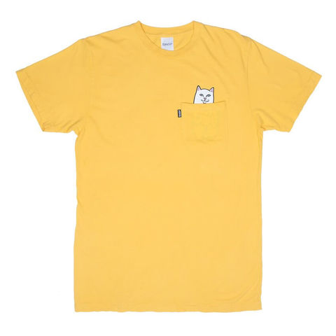 Футболка RIPNDIP Lord Nermal Pocket Tee (Gold Yellow)