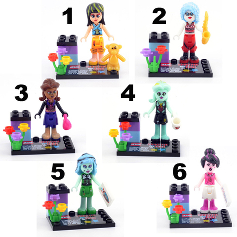 Minifigures Monster High Blocks Building