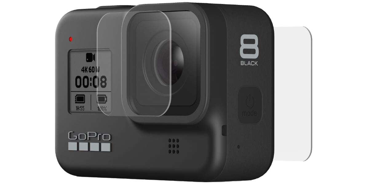 Набор защитных стёкол для камеры GoPro HERO8 Black вид спереди