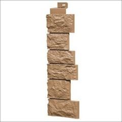 Наружный угол для фасадных панелей FineBer Камень дикий Терракотовый