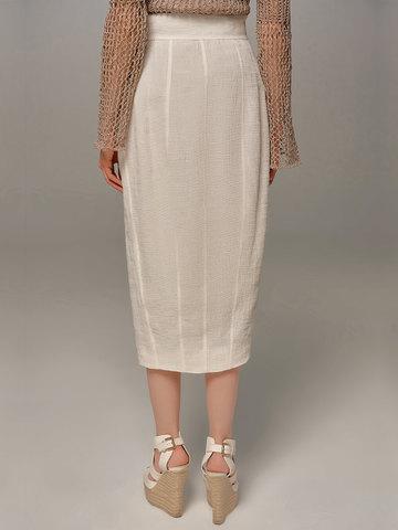 Женская юбка молочного цвета Olmar GentryPortofino - фото 4