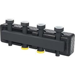 Стальной распределительный коллектор STOUT SDG-0016-004005 5 отопительных контура. В теплоизоляции DN 25