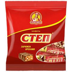 Конфеты Степ Золотой с орехом 192г