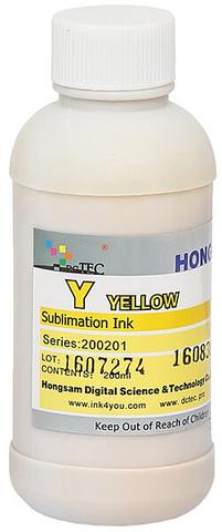 Чернила сублимационные DCTEC серии 200201 - Yellow (желтый) - 200 мл