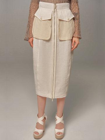 Женская юбка молочного цвета Olmar GentryPortofino - фото 2
