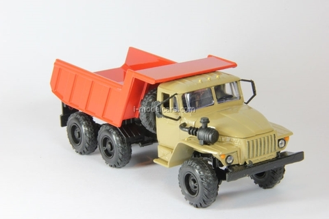 Ural-55571 tipper beige-orange Elecon 1:43