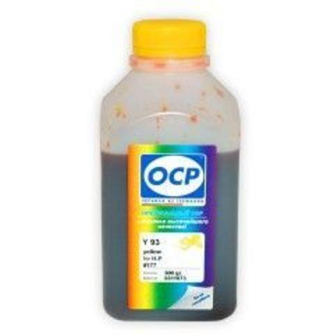Чернила OCP Y 93 Yellow для картриджей HP 177/85/78/57/141/141XL, 500 мл