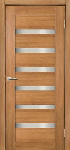Дверь Дера Мастер 643, стекло белое, цвет карамель, остекленная