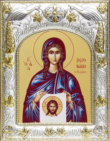 Серебряная икона именная Вероника 18x14см