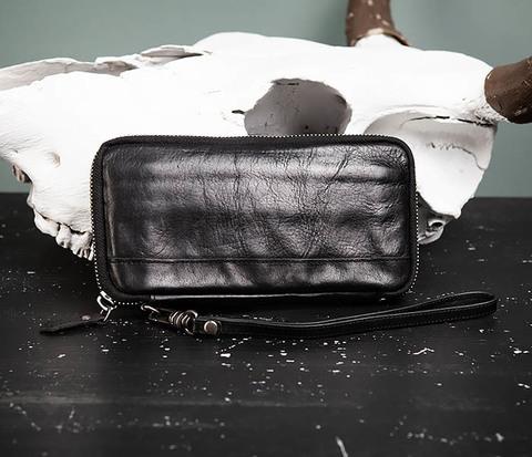 Мужское портмоне клатч из натуральной кожи
