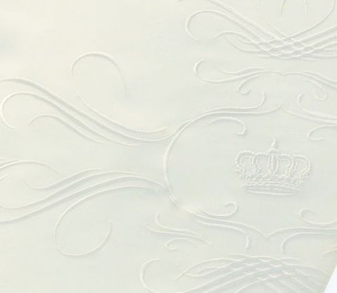 Пододеяльник 155х200 Christian Fischbacher Luxury Nights Crown 709 белый
