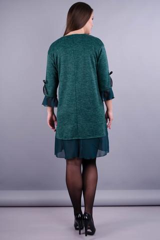 Чеслава. Гарна сукня для жінок плюс сайз. Смарагд.