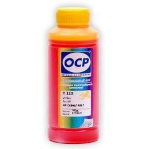 Чернила OCP Y120 Yellow для картриджей HP 11/13/12/82, 100 мл