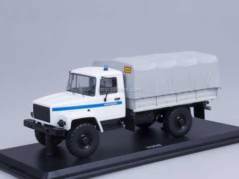 GAZ-3308 4x4 engine ZMZ-513 board with awning Police Start Scale Models (SSM) 1:43