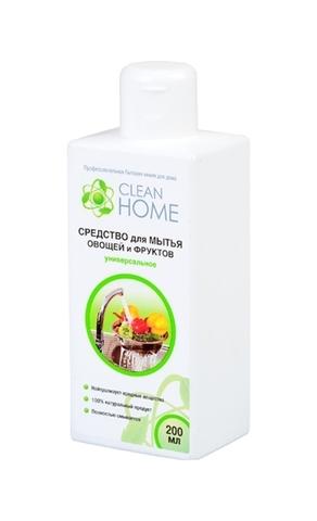 Средство для мытья овощей и фруктов, CLEAN HOME, универсальное, 200 мл