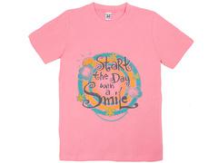 18058-1 футболка для девочек, розовая