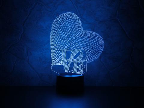 Светильник Сердце LOVE