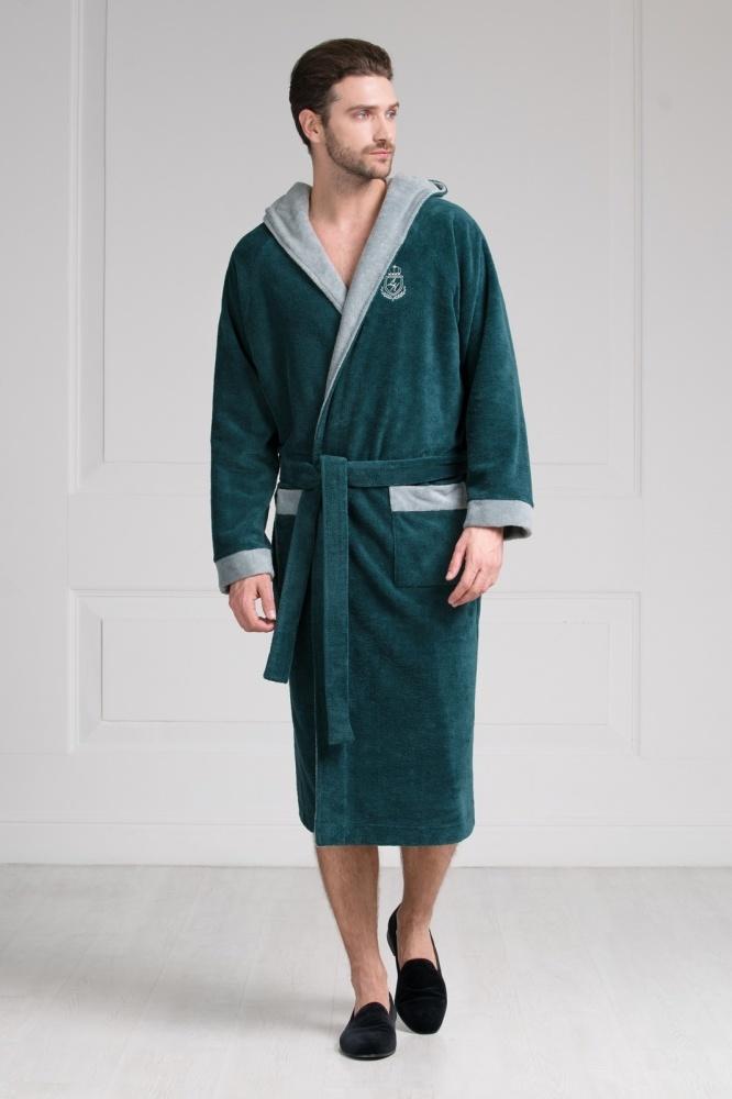 Халаты мужские Мужской бамбуковый халат с капюшоном 11008-8 Laete Турция 11008-8.jpeg
