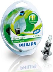 Галогенные лампы Philips H1 Eco Vision +10% (2шт.)