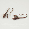 Швензы - крючки 20х8 мм с держателем для подвески c узором(цвет - античная медь)