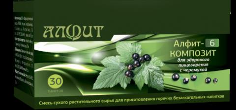 Фитосбор АЛФИТ-6 КОМПОЗИТ Для здорового пищеварения, с черемухой, 30ф/п*2г