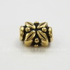 "Бусина TierraCast ""Листики"" 8х6х5 мм (цвет-античное золото) ()"