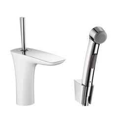 Смеситель для раковины с гигиеническим душем с цепочкой Hansgrohe PuraVida 15275400 фото
