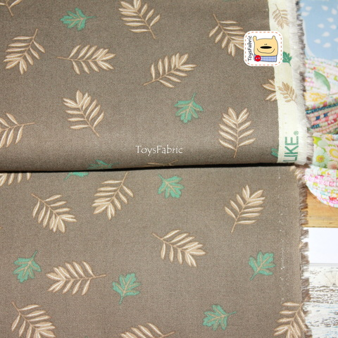 Ткань хлопок Корея Daily Like 20876 (листья) 45х55см