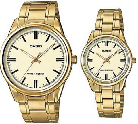 Купить Парные часы Casio Standard: MTP-V005G-9AUDF и LTP-V005G-9AUDF по доступной цене