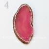 Срез Агата без отверстия (тониров), цвет - розовый, 54-72 мм