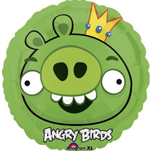 Шар Круг Angry Birds зеленый 46 см