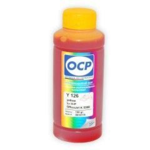 Чернила OCP Y126 Yellow для картриджей HP 18, HP 88, 100 мл