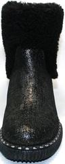 Модные полусапожки без каблука Kluchini 13044k289