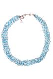 Бисерное ожерелье Facilità из 12 нитей голубое