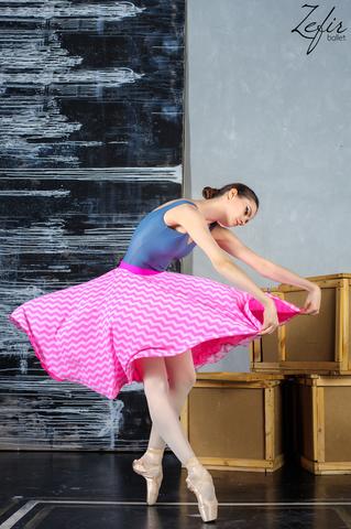 Zigzag rhythm two-sided rehearsal skirt