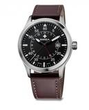 Часы наручные SWIZA Siriuz GMT сталь / коричневая кожа 42мм (WAT.0352.1002)
