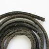 Шнур (нат. кожа), 5х2 мм, цвет - черный, примерно 1 м (темные)