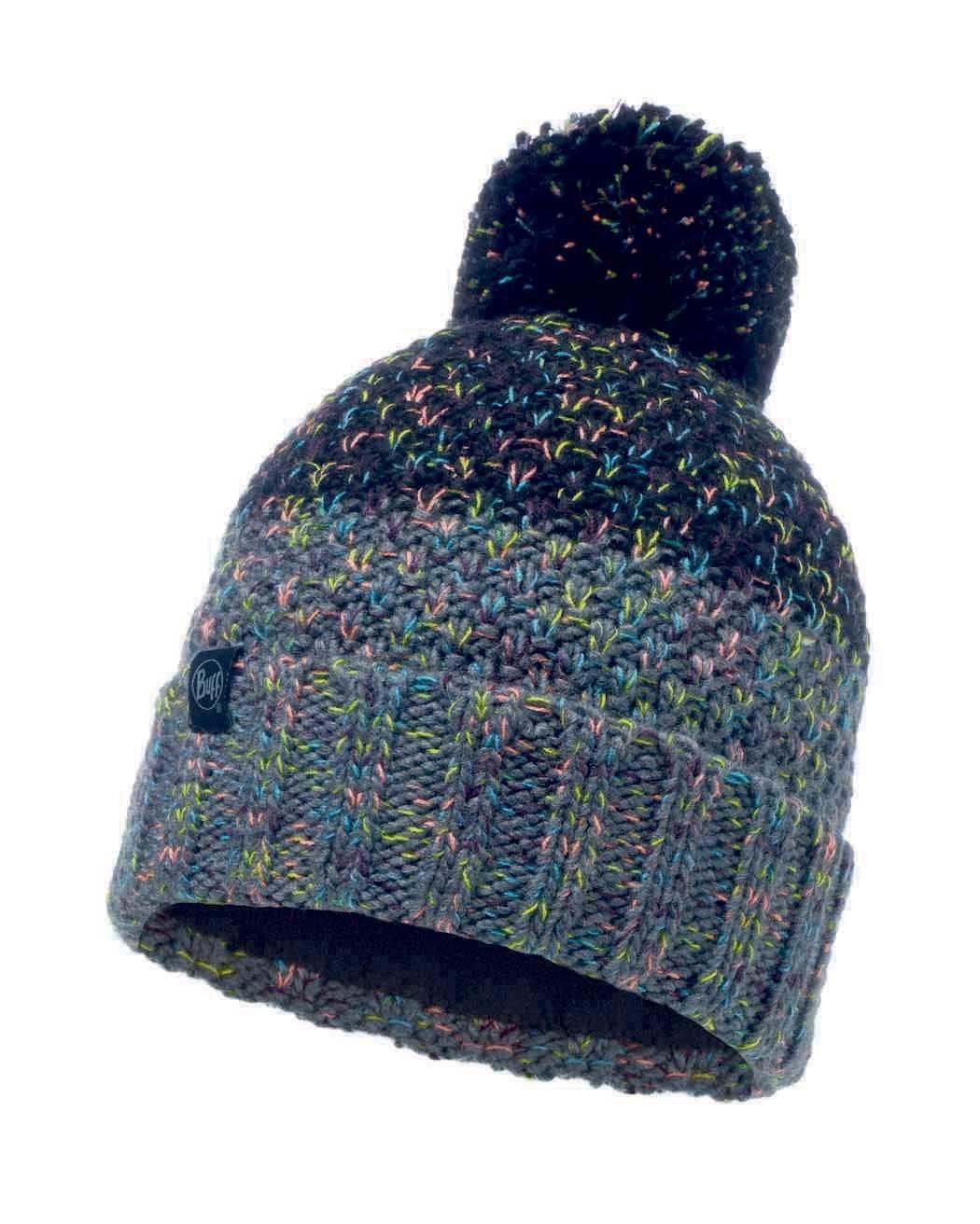 Шапки с помпоном Вязаная шапка с флисовой подкладкой Buff Hat Knitted Polar Janna Black 117851.999.10.00.jpg