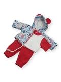 Трикотажный костюм - Цикламеновый. Одежда для кукол, пупсов и мягких игрушек.