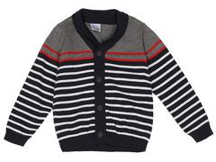 BSW001008 свитер детский, темно-синий/разноцветный