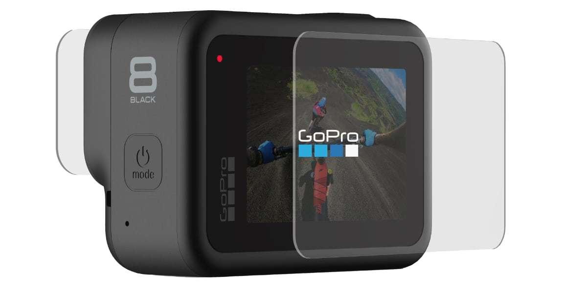 Набор защитных стёкол для камеры GoPro HERO8 Black вид сзади