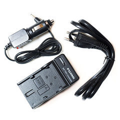 Зарядка для Canon Powershot G10 FUJIMI CB-2LZE (Зарядное устройство + адаптер в прикуриватель автомобиля)