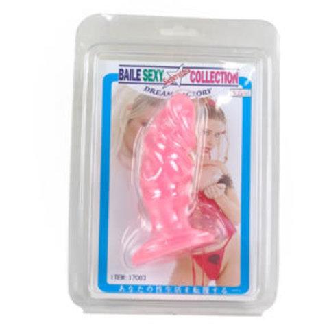 Анальная пробка-фаллос розовый фото