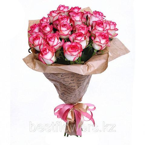 Букет из 21 розы Джумилия (местные)
