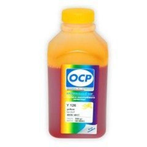 Чернила OCP Y126 Yellow для картриджей HP 18, HP 88, 500 мл