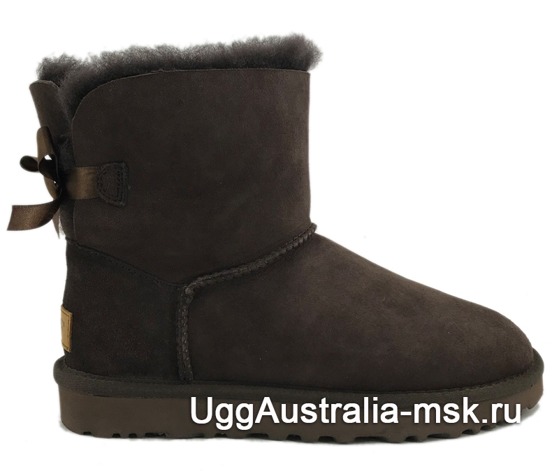 UGG Bailey Bow II Mini Chocolate